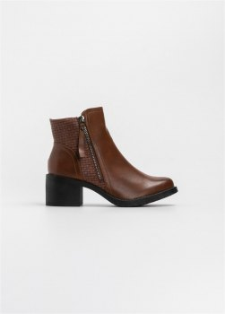 Casual ankle boots με pattern στο πλάι Ταμπά