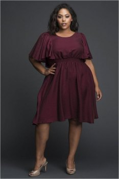 Ruffle Sleeves Cocktail Dress