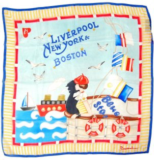 ΜΑΝΤΗΛΙ BRACCIALINI BLUE STAR LIVERPOOL NEW YORK BOSTON ΜΠΛΕ