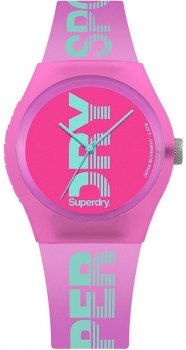 SUPERDRY Urban SYL189PN, Pink case with Pink Rubber Strap