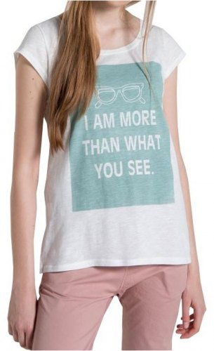 T SHIRT HELMI ΜΕ ΣΤΑΜΠΑ quot I AM MORE THAN WHAT YOU SEE quot ΛΕΥΚΟ