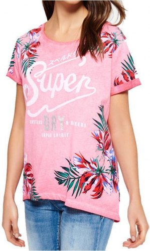 T SHIRT SUPERDRY CUTTERS ΡΟΖ ΜΕΛΑΝΖΕ