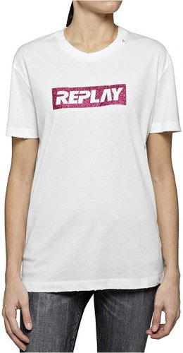 T SHIRT REPLAY W3940U 000 22658 ΛΕΥΚΟ
