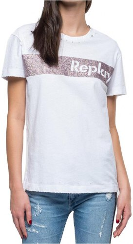 T SHIRT REPLAY W3940R 000 22660 ΛΕΥΚΟ