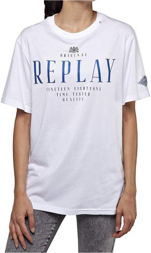 T SHIRT REPLAY W3315A 000 20994 ΛΕΥΚΟ