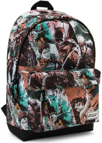 ΣΑΚΙΔΙΟ ΠΛΑΤΗΣ ΓΥΜΝΑΣΙΟΥ KARACTERMANIA JUSTICE LEAGUE GRAY HS BACKPACK COMICS 44X30X20CM
