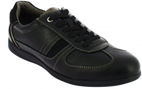 IQSHOES Ανδρικό Casual A560 Μαύρο Μαύρο A560 BLACK IQSHOES black 39 4 1 78