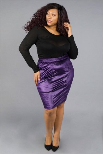 Velvet Shimmer Purple Skirt
