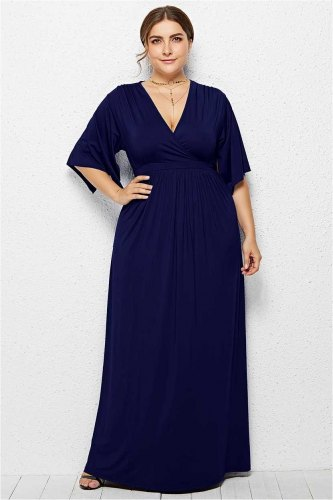 Essential Solid Color Long Maxi dress