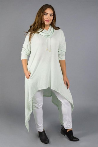 Live in the hood pastle green Long top dress