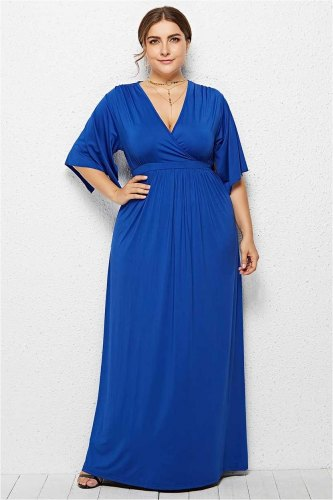 Basic Solid Color Long Maxi dress