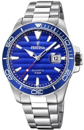 FESTINA Men's F20360 1 , Silver case with Stainless Steel Bracelet