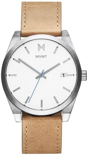 MVMT Classic 2800040 D, Silver case with Brown Leather Strap
