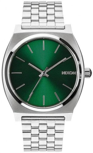 NIXON Time Teller A045 1696 00 , Silver case with Stainless Steel Bracelet