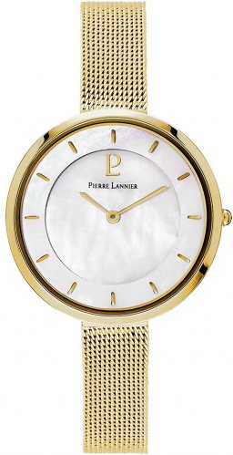 PIERRE LANNIER Ladies 076G598 Gold case with Stainless Steel Bracelet