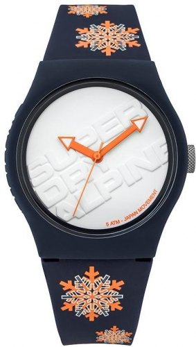 SUPERDRY Urban SYG165UY Blue case, with Blue Rubber Strap