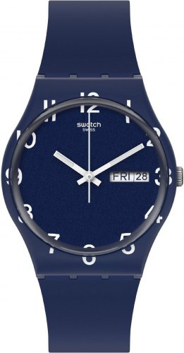 SWATCH Over Blue GN726, Blue case with Blue Rubber Strap