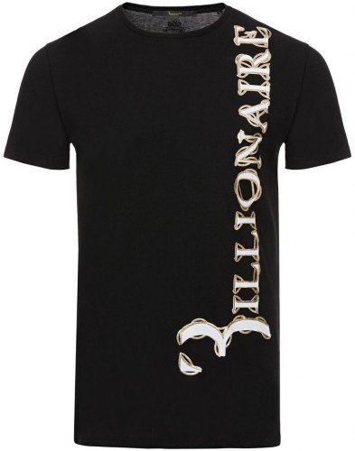 T shirt με κοντά μανίκια Billionaire MTK1984 BRASS Black