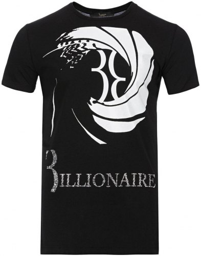 T shirt με κοντά μανίκια Billionaire MTK1980 CARRIGAN Black