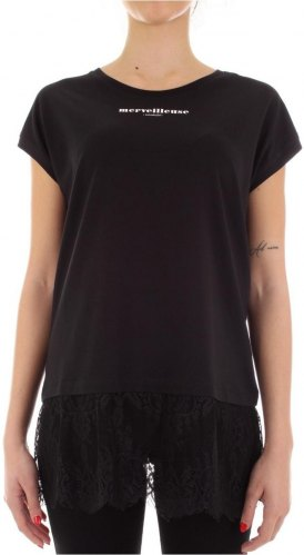 T shirt με κοντά μανίκια Twinset Mytwin 201MP232A Black