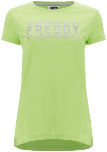 T shirt με κοντά μανίκια Freddy S1WCLT2 [COMPOSITION COMPLETE] Green