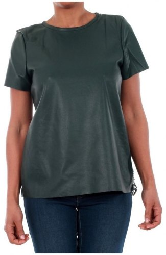 T shirt με κοντά μανίκια Vero Moda 10188470 VMRINA LACE BUTTER S S TOP LCS GREEN GABLES [COMPOSITION COMPLETE]