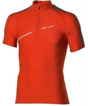 T shirt με κοντά μανίκια Asics 1 2 ZIP TOP FW12 421016 0540 Orange
