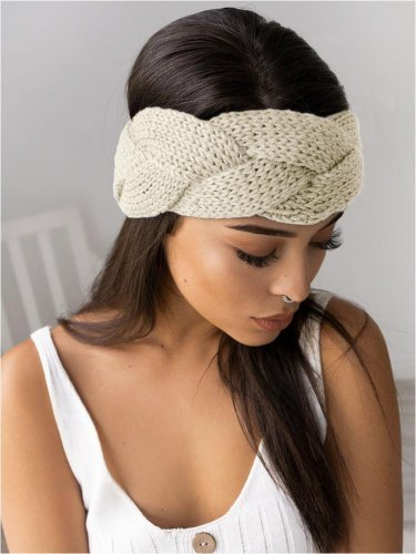 BRAID BEIGE HEADBAND