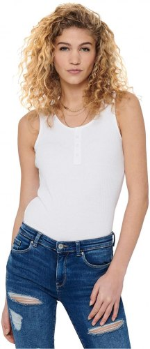 ONLY DETAILED SLEEVELESS TOP ΓΥΝΑΙΚΕΙΟ ΛΕΥΚΟ