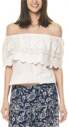 OEUVRE FASHION ΓΥΝΑΙΚΕΙΟ OFF THE SHOULDER ΛΕΥΚΟ ΤΟΠ