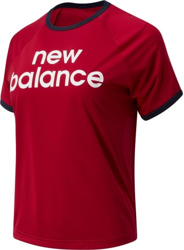 NEW BALANCE ACHIEVER GRAPHIC HIGH LOW T SHIRT ΓΥΝΑΙΚΕΙΟ ΚΟΚΚΙΝΟ