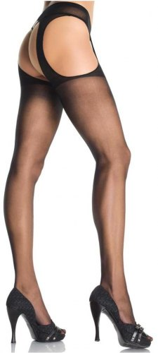Καλσόν Sheer Suspender Pantyhose LG1901 Black