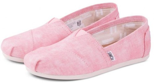 TOMS SHOES CLASSIC CORAL WASHED CANVAS 10009706 Κοραλί