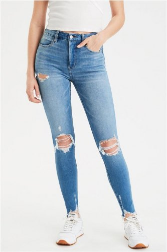 AE The Dream Jean Super High Waisted Jegging 3435 2642 929 Μπλε