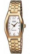 CASIO Collection LTP 1281PG 7AEF, Gold case with Stainless Steel Bracelet